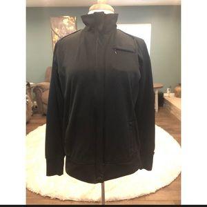 Nike black jacket with plaid lining size medium